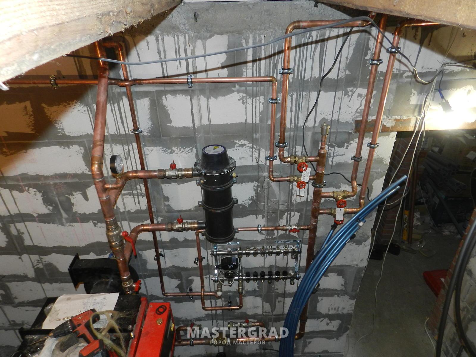 Система отопления жилого дома