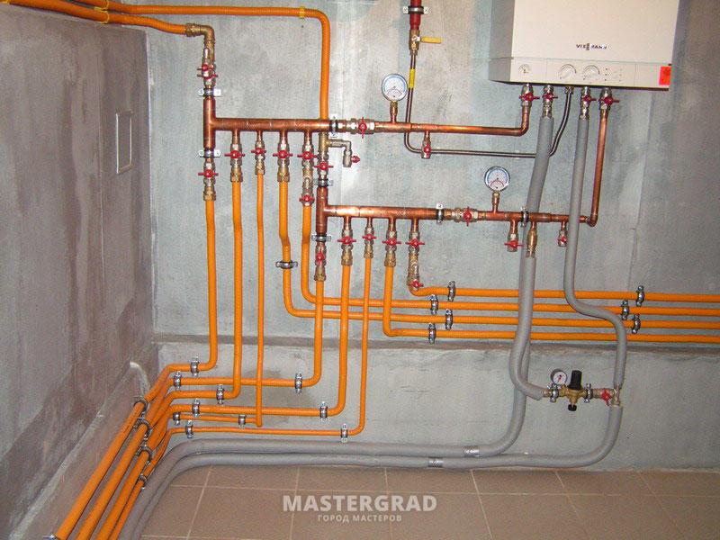 Система отопления квартиры схема фото