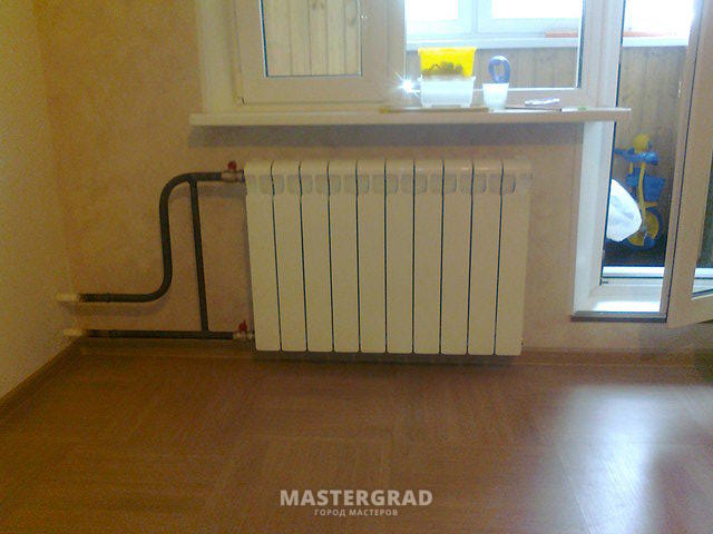 установка радиаторов на газосварке