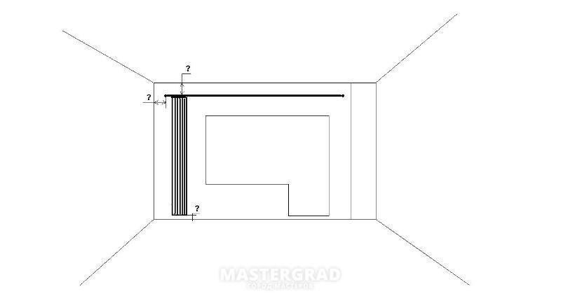 К примеру, насколько опускается натяжной потолок в зале?