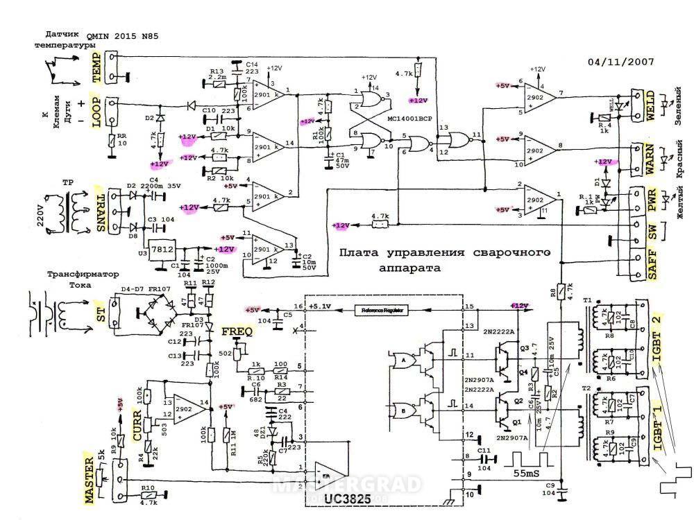 Схема сварочных аппаратов fubag