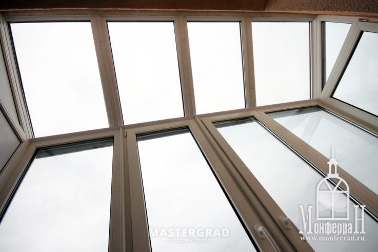 Крыша лоджии из стеклопакетов - фото- форум mastergrad.