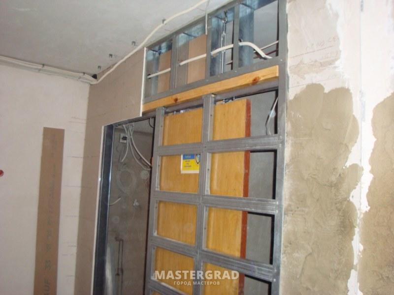 Двери встроенные в стену своими руками фото