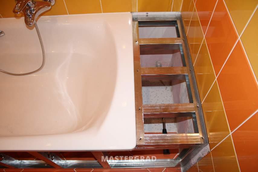 Как сделать полок для ванны