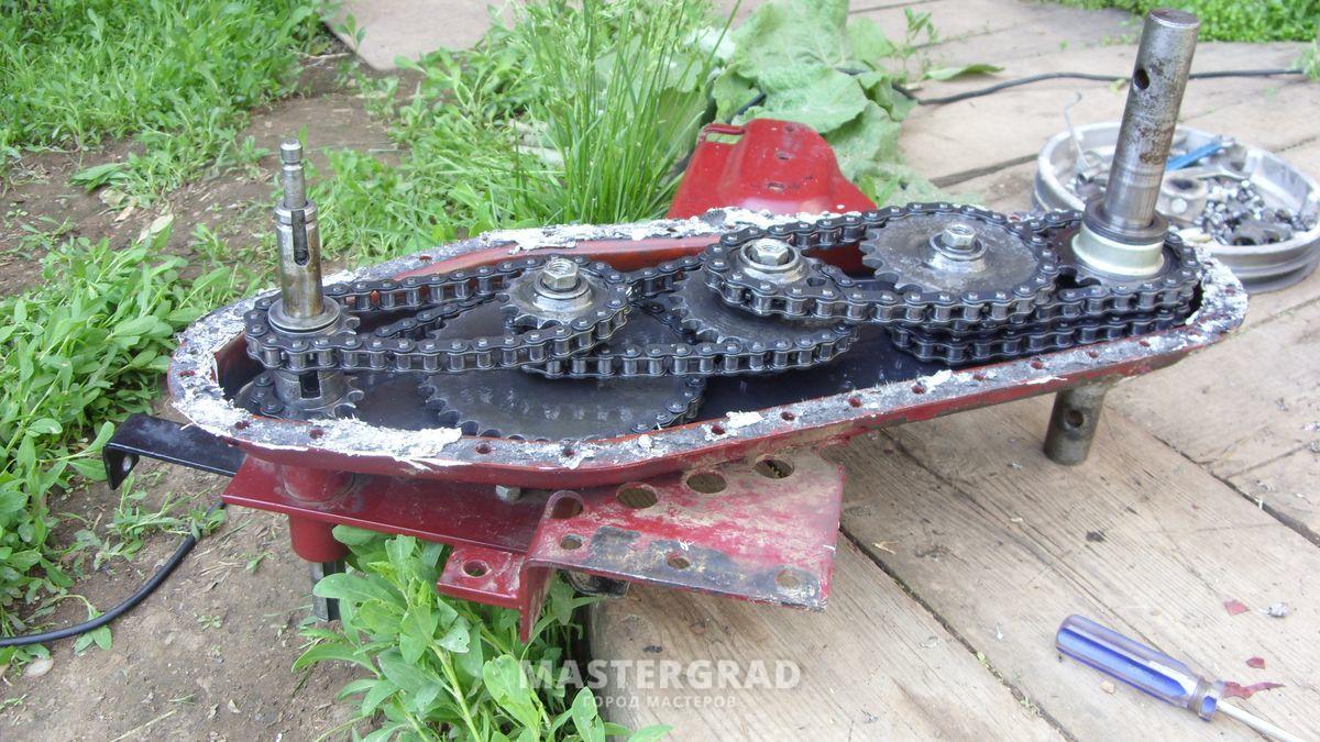 Мотоблок мб-1д ремонт редуктора