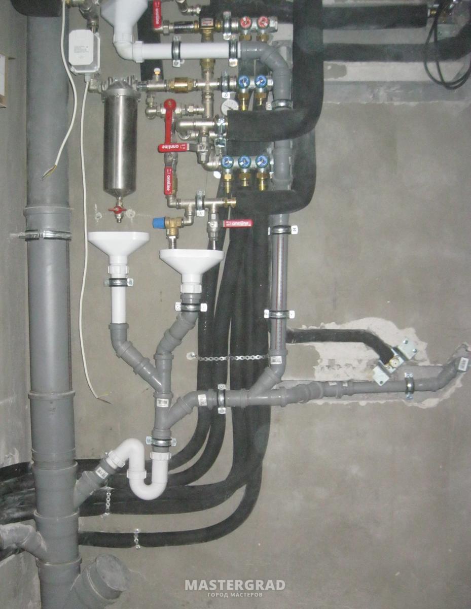 схема для сантехмонтаж отоплении