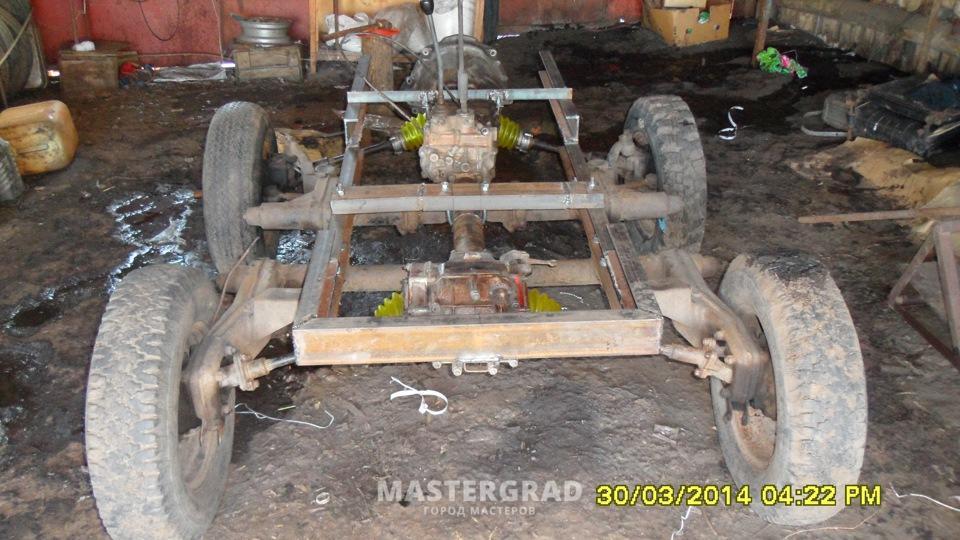 Самодельный трактор из луаз