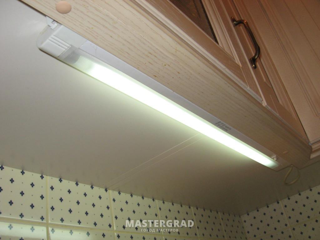 схема подсветки на кухонном гарнитуре