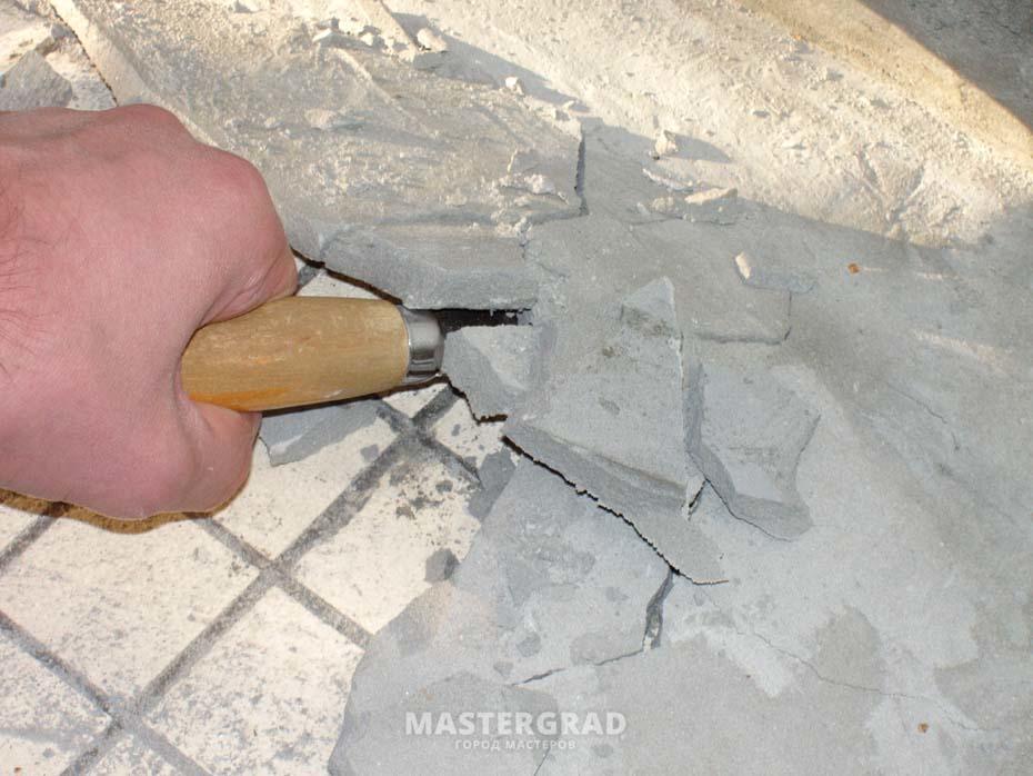Можно ли плиточный клей использовать под стяжку