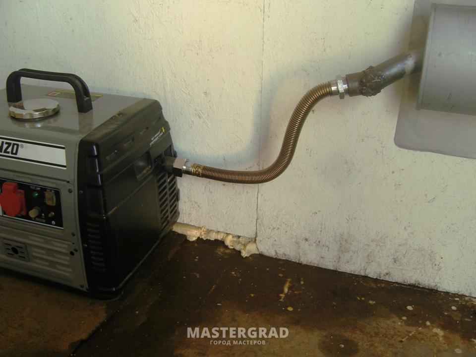 Бензогенератор отвод выхлопных газов своими руками