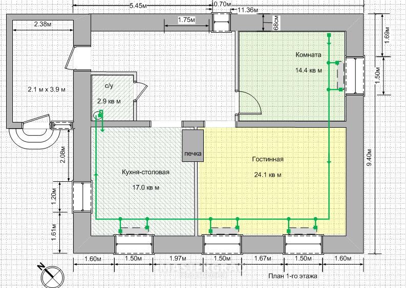 схема канализации в 9 этажном доме