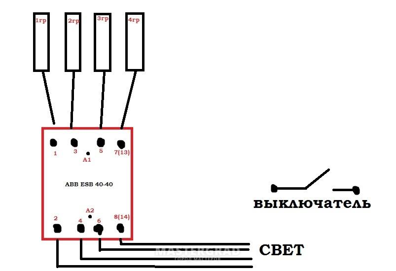 Abb esb 20-20 схема подключения