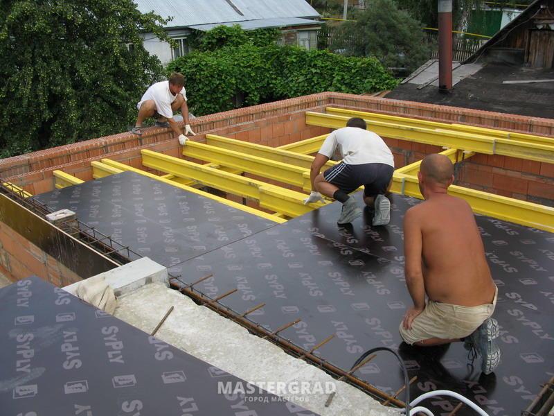 Как сделать кровлю по бетону