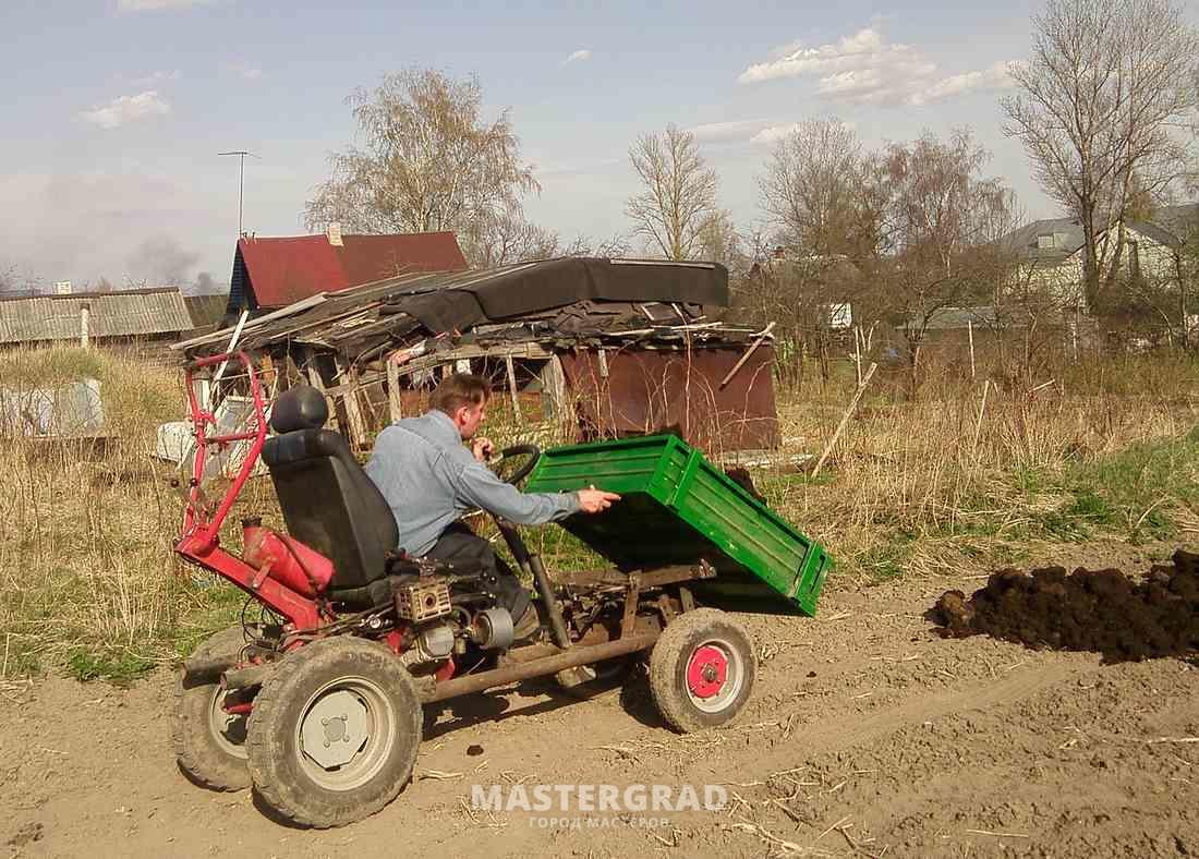 Трактор для дачи своими руками 479