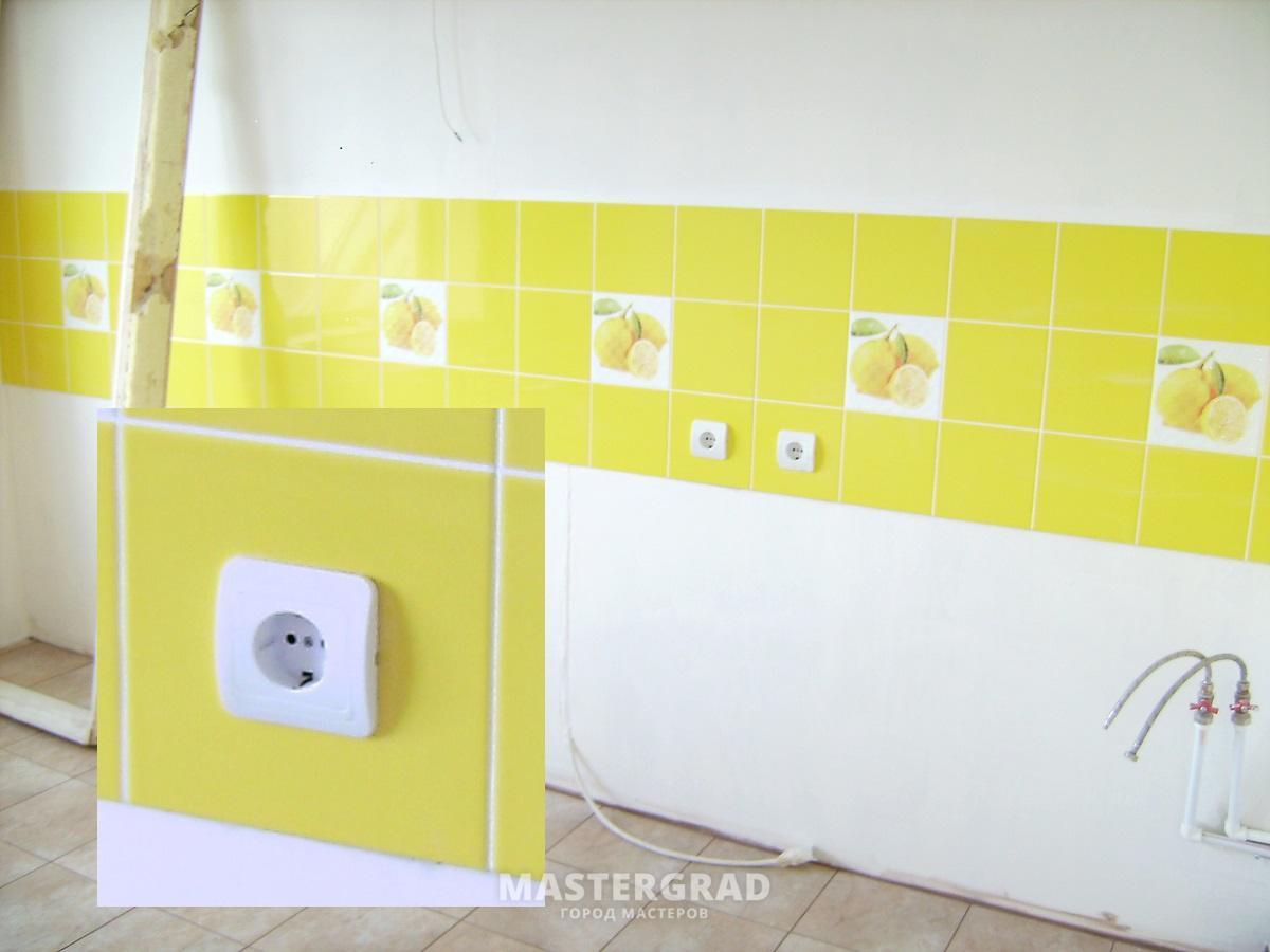 Розетки на фартуке кухни (39 фото установка розеток, как установить на) 82