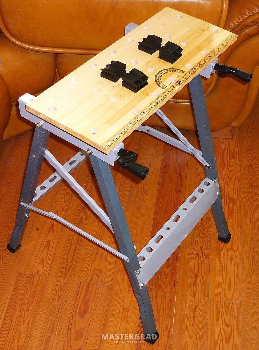 Как сделать откидной стол для тисков