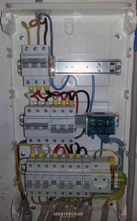Собрать электрический щиток 3 х фазный