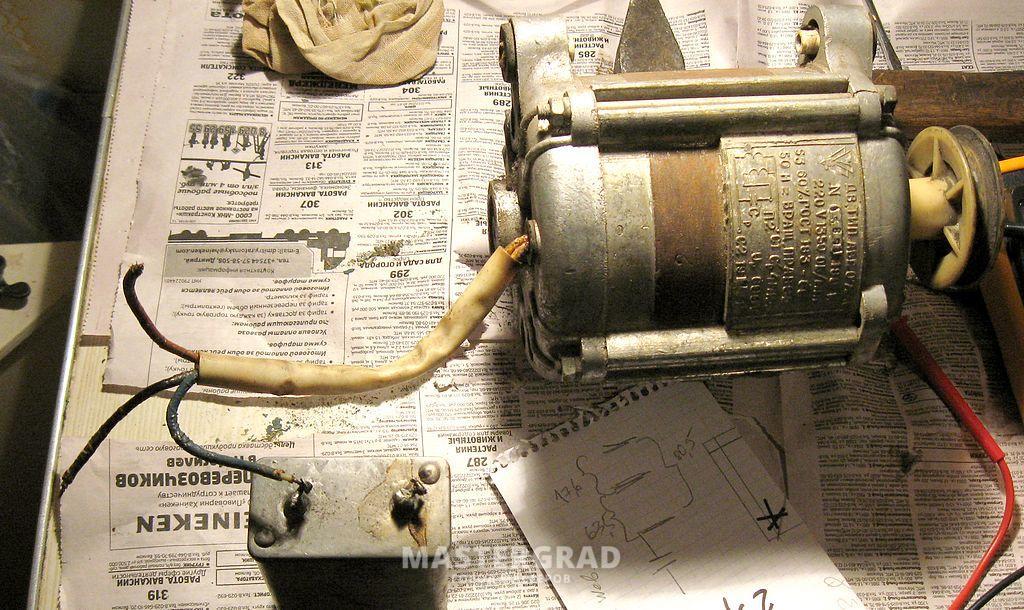 Как подклюить мотор от стиралки 36