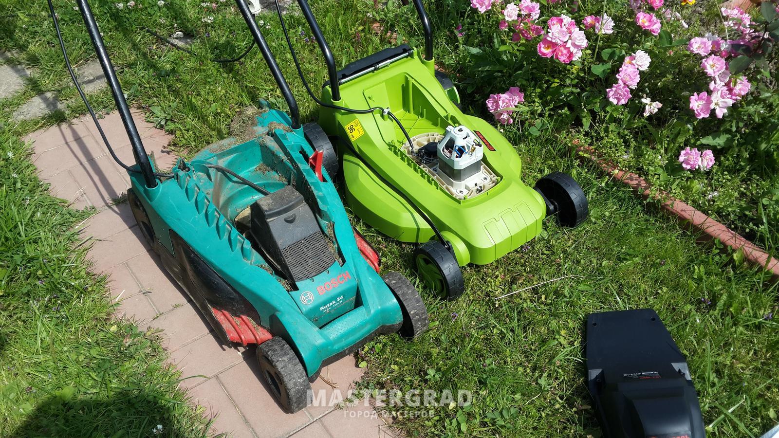 Как отремонтировать газонокосилку бош своими руками