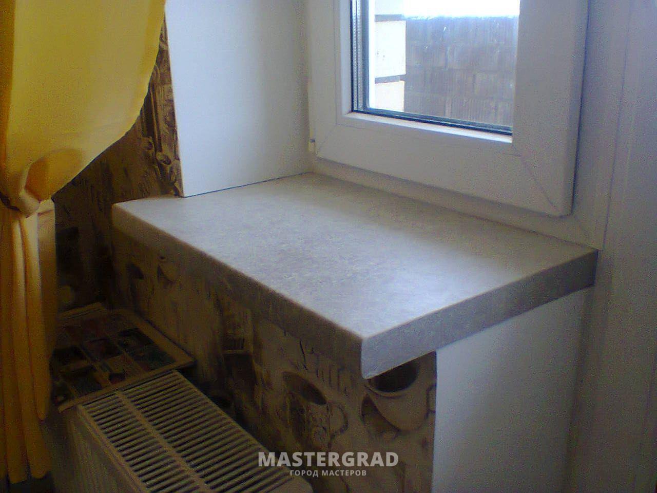 Подоконник-столешница вместо балконного блока столешница из мрамора уход