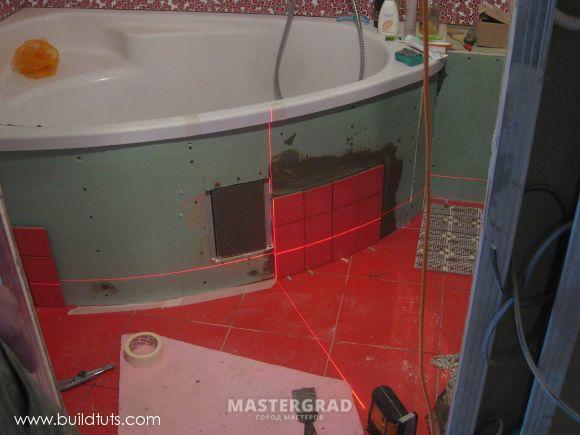 Как сделать экран для ванны из плитки
