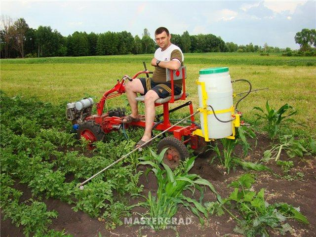 Как сделать опрыскиватель для трактора