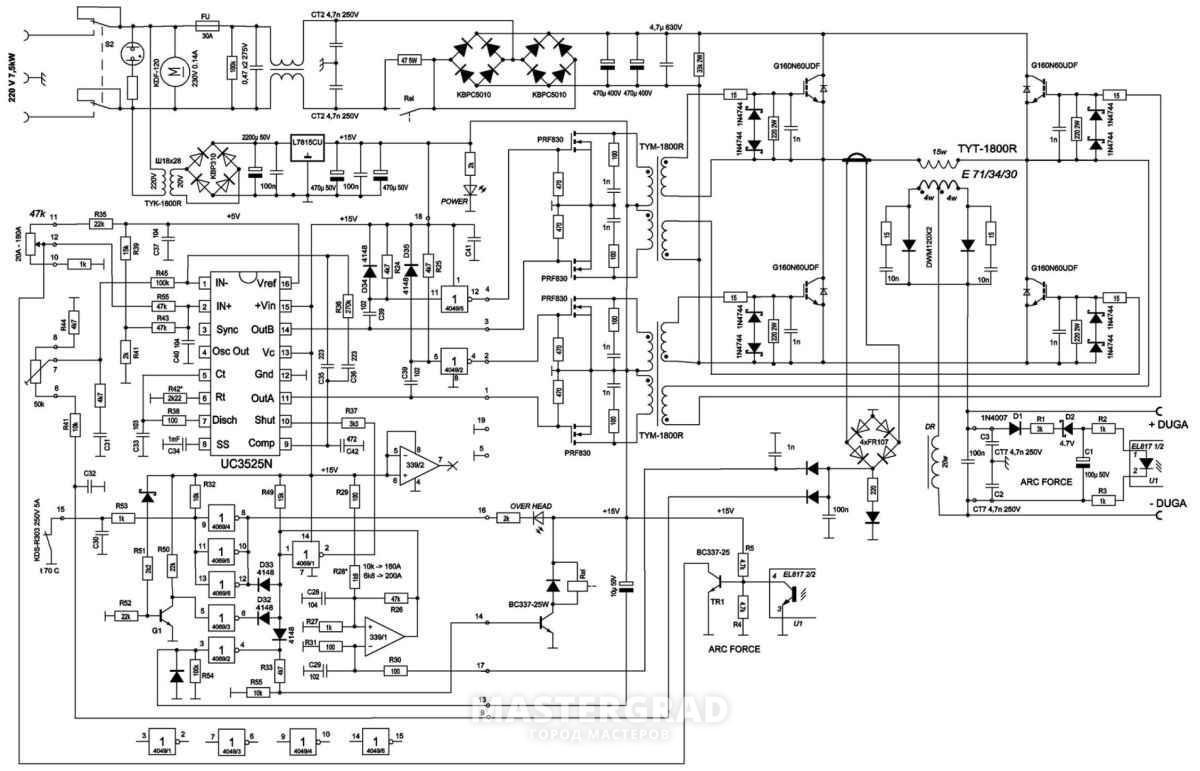 Сварочный инвертор arc 200 схема фото 990