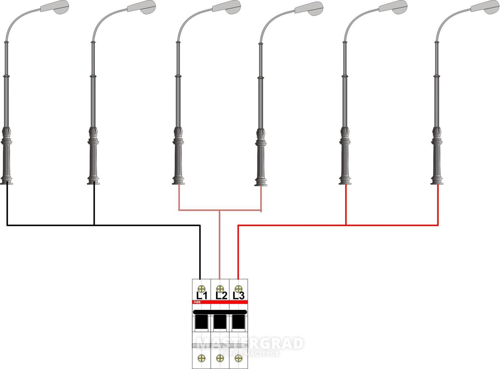 Схема подключения фото для уличного освещения
