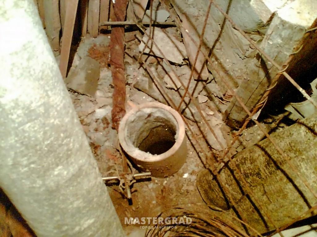 схема естественной вытяжки в подвале