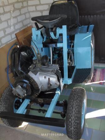 Минитрактор из двигателя мотоблока