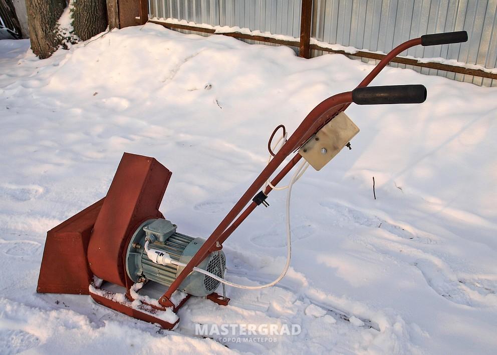 Электрический снегоочиститель своими руками