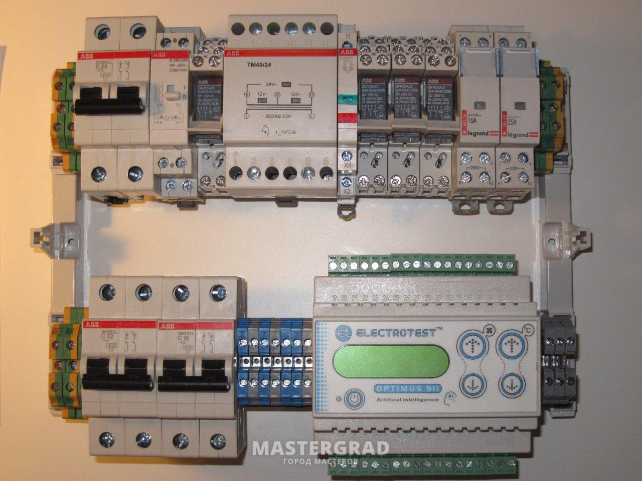 схема с контролерами щитов вентиляции