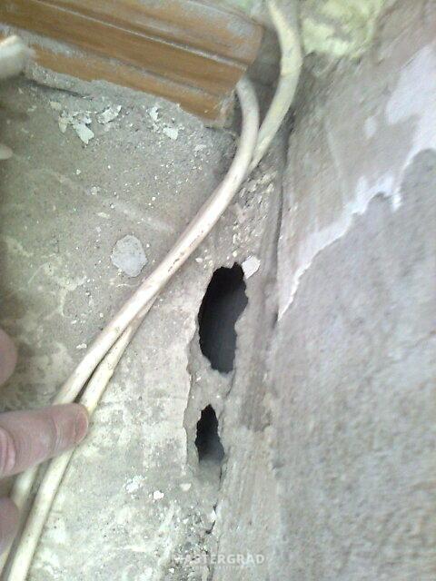Заделать дыру в полу и щель в стене - фото- форум mastergrad.