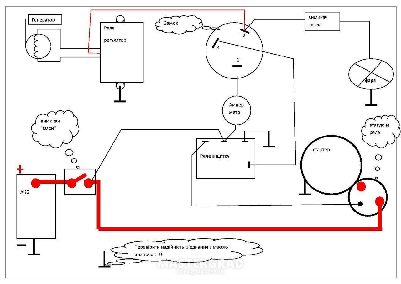Схема реле регулятора на т-25