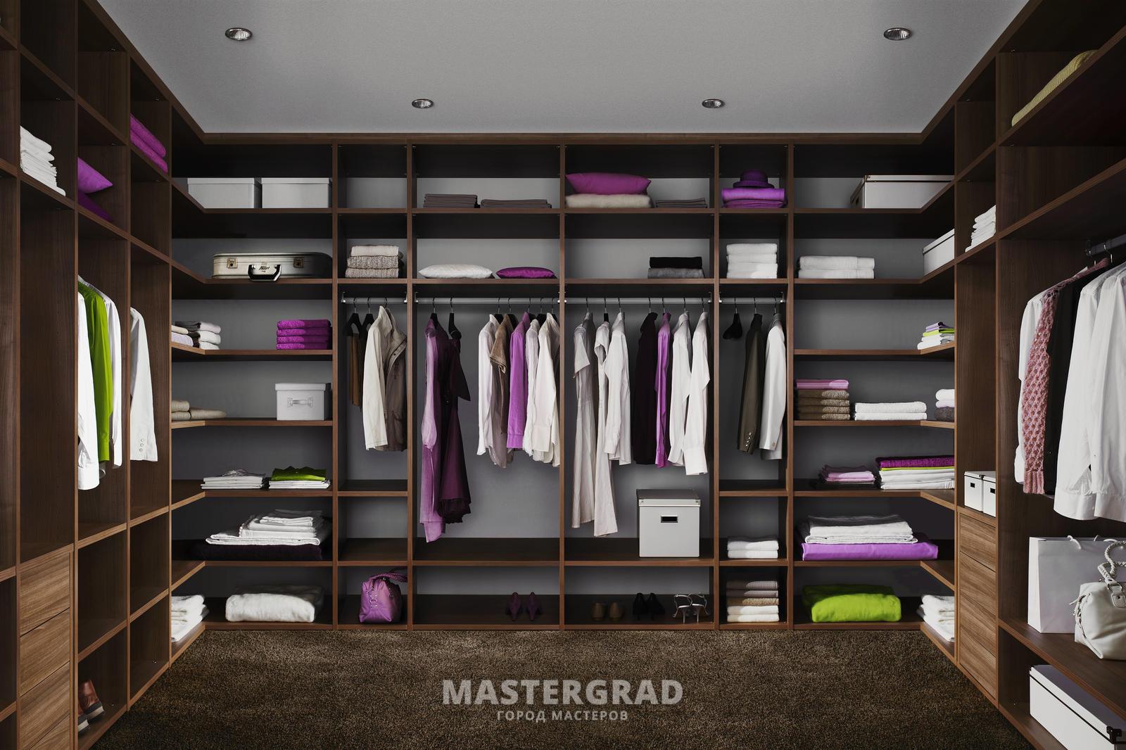 Гардеробная комната для верхней одежды и обуви - компания 10.