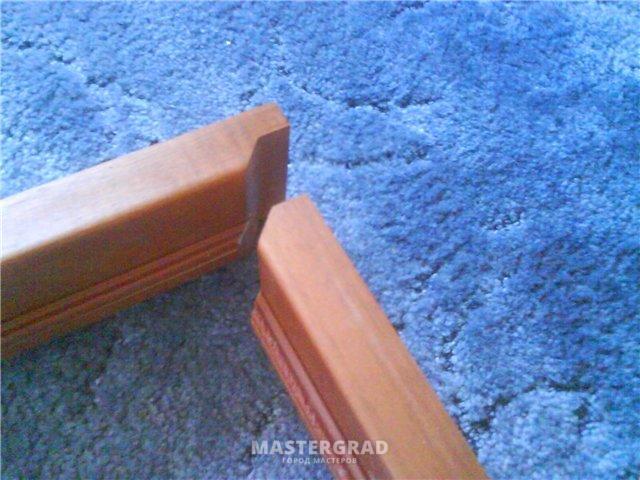 Как сделать угол 45 на дверной коробке