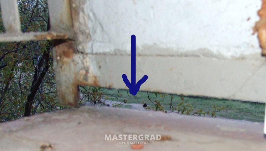 Ответы@mail.ru: Чем заделать такую дырку на балконе?! см. фо.