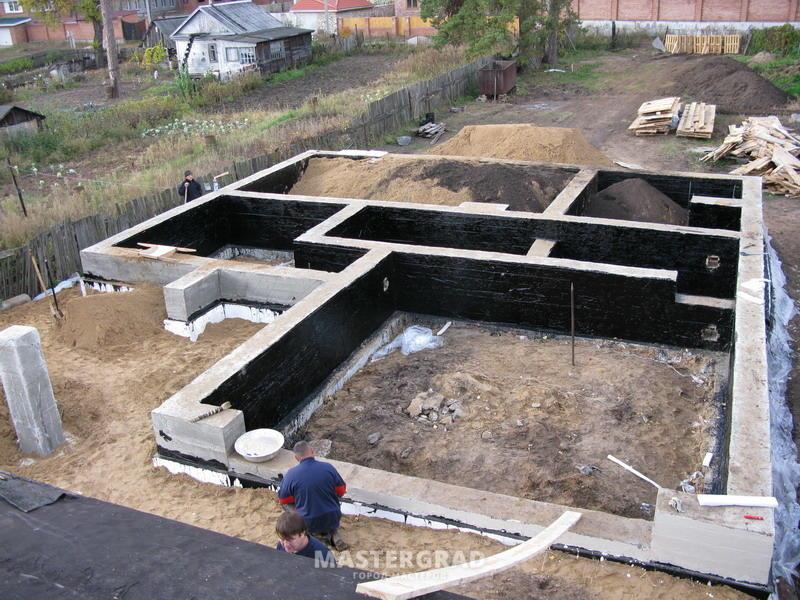Фундамент дома для одноэтажного дома из газобетона своими руками