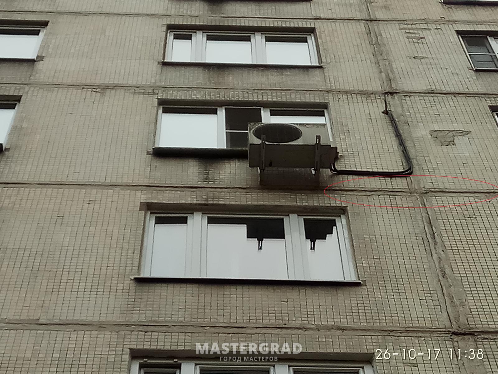 В новой квартире промерзают стены