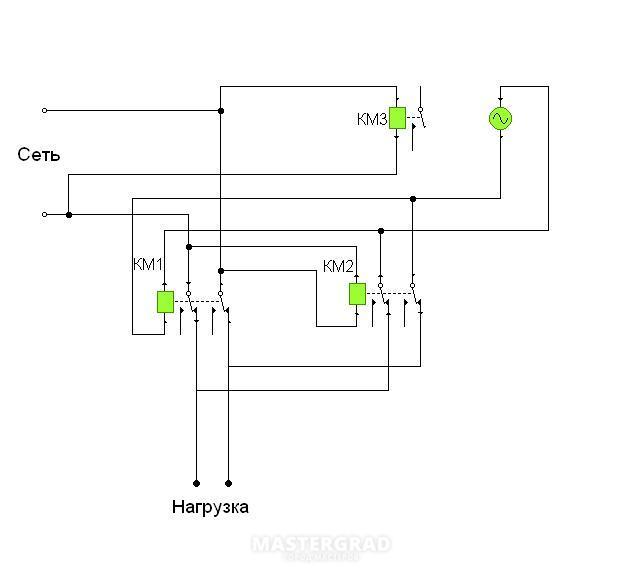Реверсивный переключатель авв схема подключения5