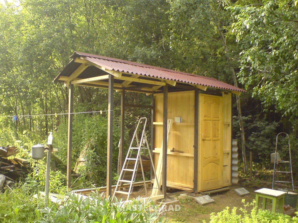 Дачный туалет из кирпича своими руками пошагово фото