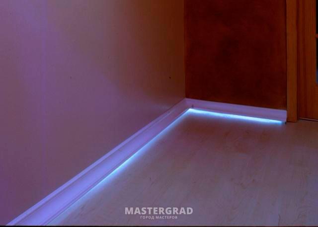 Плинтус светодиодный своими руками 33