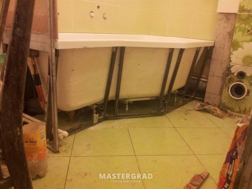 Металлический каркас для ванной комнаты своими руками 43