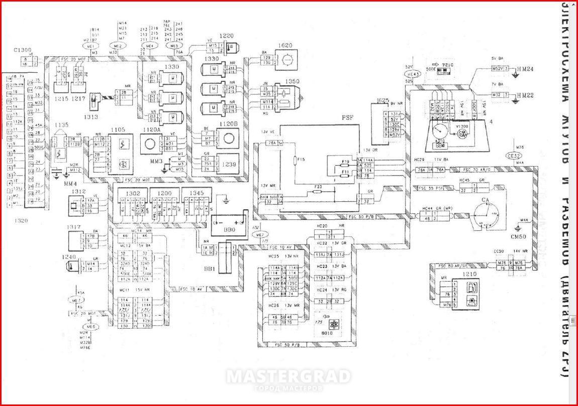 Схема мотора пежо 605