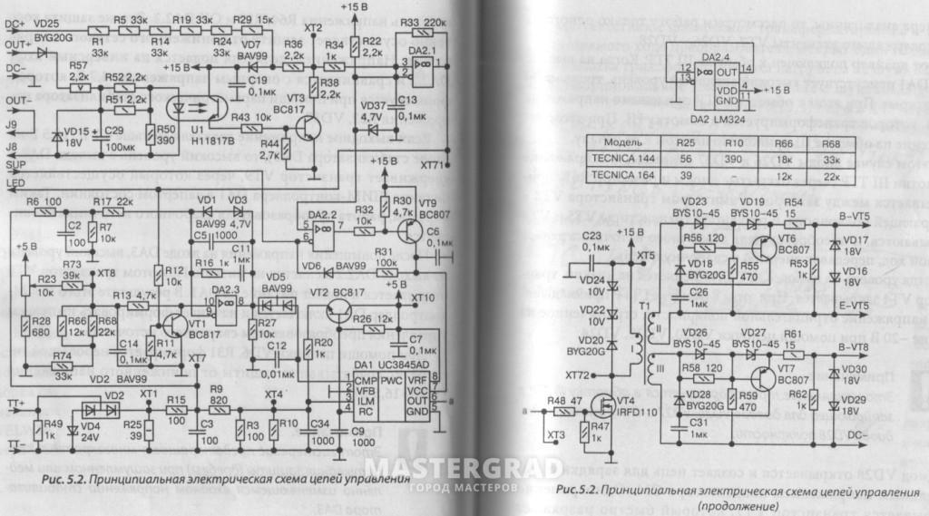 Схема электрическая ресанта 140