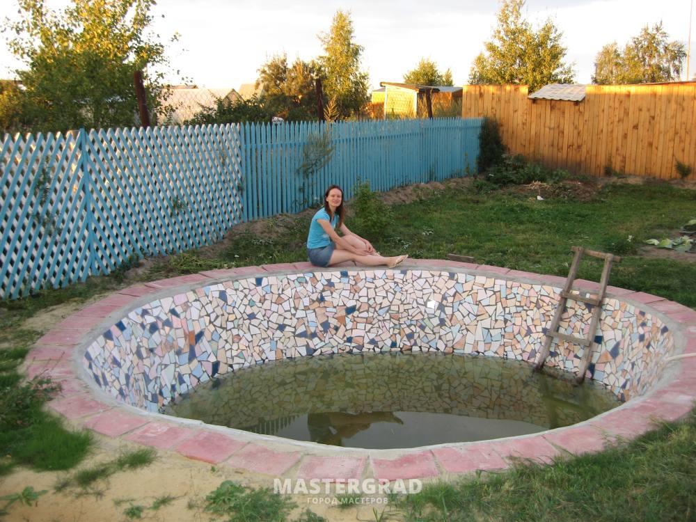 Декоративный бассейн на даче своими руками пошагово 21