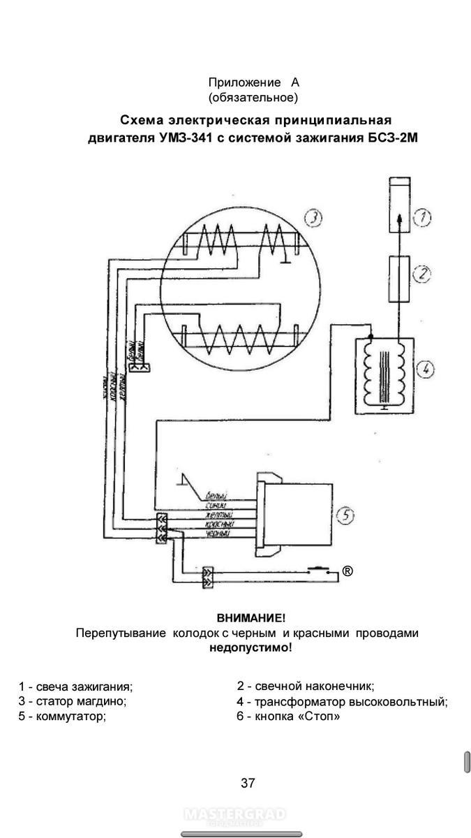 Схема зажигания мотокультиватора роби-55
