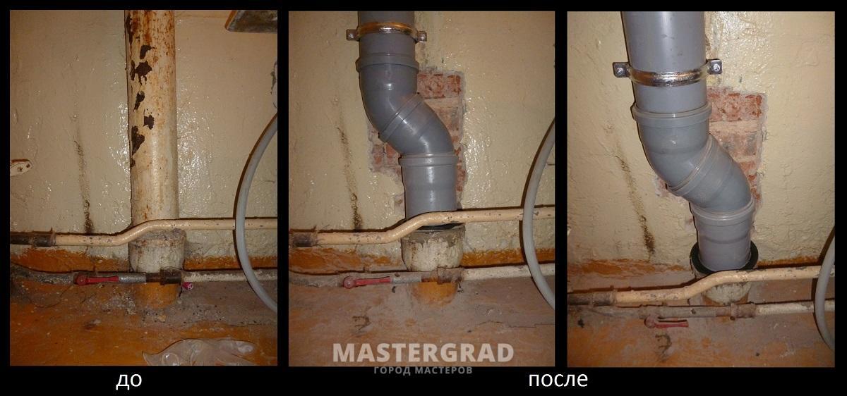 Как поменять стояк канализации в квартире
