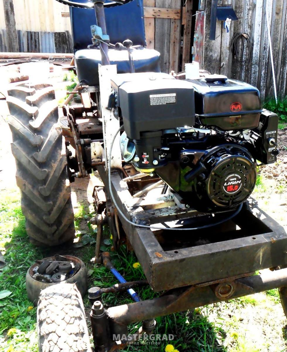 Трактор с двигателем лифан
