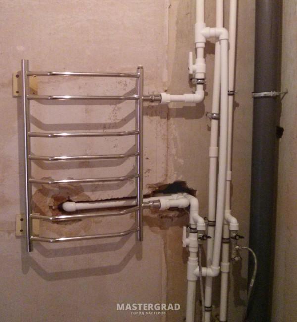 Как сделать байпас на полотенцесушитель 283